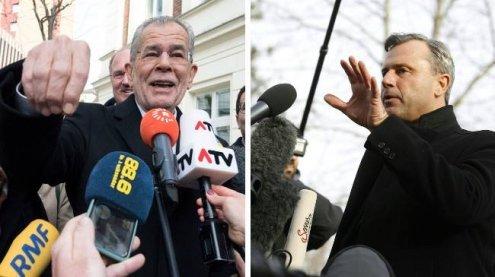 Hofer und Van der Bellen zeigten sich optimistisch im Wahllokal