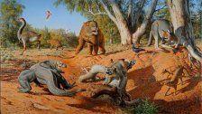 Gigantische Kängurus vom Mensch ausgerottet