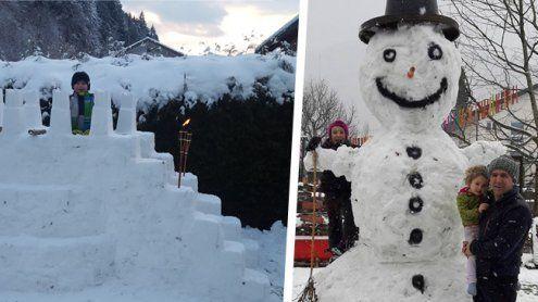 Burgen und Schneeriesen: So kreativ sind die Vorarlberger!