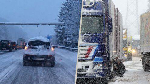 Verkehrschaos in Vorarlberg: Lkw bleiben hängen, Staus auf A14