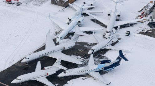 Weltwirtschaftsforum: Reger Betrieb am Flughafen Altenrhein