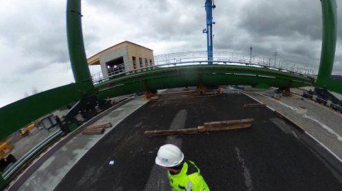 Aufbau des neuen Portalkrans am Güterbahnhof in Wolfurt!