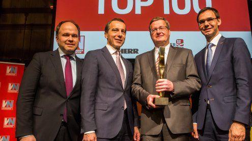 Ganahl-Vorstand Dieter Gruber erhält VN-Wirtschaftspreis 2017