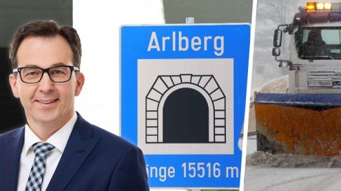 Tunnel gesperrt: Kommt es zum Schnee-Chaos am Arlbergpass?