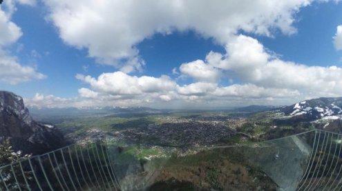 Der Sonne auf den Berg gefolgt: Ausblick vom Karren in 360-Grad