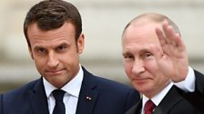 Macron empfing Putin in Versailles