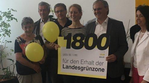 """Lebensraum Weiler"" übergab Petition an Harald Sonderegger"