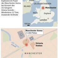 Manchester-Explosion: Mindestens 23 Tote bei Anschlag, Attentäter war Salman Abedi