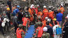 Erdrutsch in China - Rund hundert Tote befürchtet