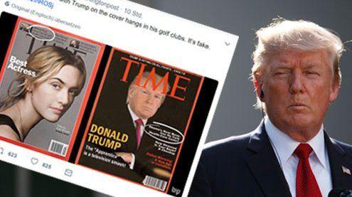 Fake News von Trump: Sein TIME-Cover ist eine plumpe Fälschung