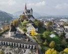 Vorarlberg: Hangbrand bei Basilika Rankweil