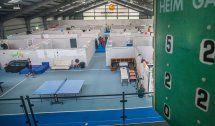 Keine Flüchtlinge mehrin der Tennishalle Götzis
