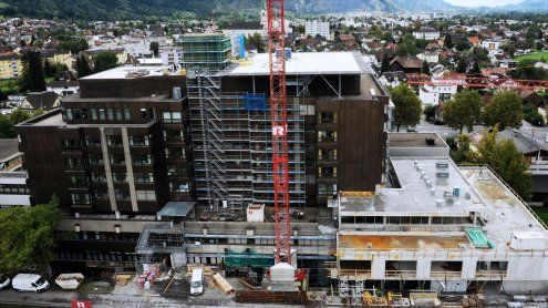 Sichtbarer Baufortschritt beim Dornbirner Krankenhaus