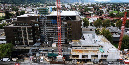 Sichtbarer Baufortschrift beim Dornbirner Krankenhaus