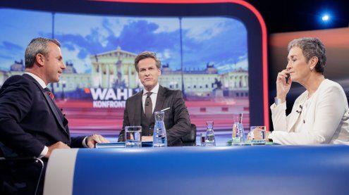 ORF-Duell Lunacek gegen Hofer mit rasanten Themenwechseln