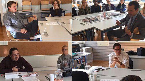 """""""Politics to go"""" - Ländle-Politiker stellen sich Fragen von Schülern"""
