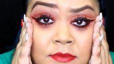 Blutiger Eyeliner als neuer Halloween-Trend?
